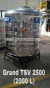 Jual Toren Tandon Tangki Air Grand Stainless TSV 2500 (2000 liter)